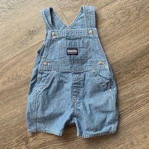 Oshkosh chambray overalls    3-6 month infant.